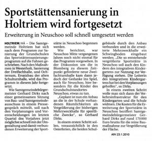 Anzeiger für Harlingerland 23.1.2010