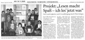 Anzeiger für Harlingerland 16.11.2005