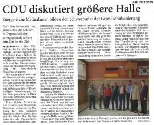 Anzeiger für Harlingerland 28.8.2009