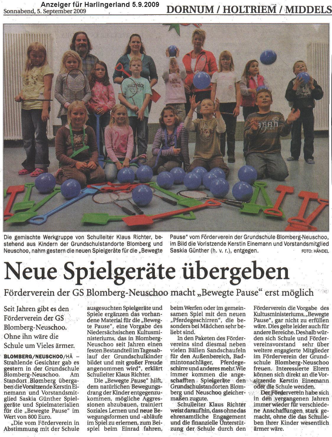 Anzeiger für Harlingerland 5.9.2009