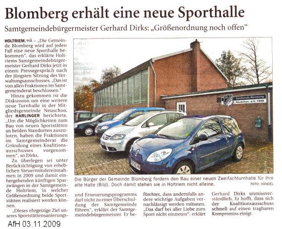 Anzeiger für Harlingerland 3.11.2009