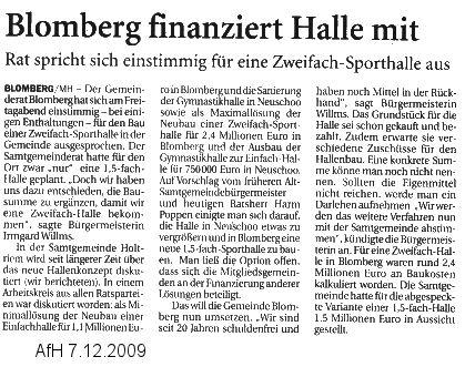Anzeiger für Harlingerland 7.12.2009