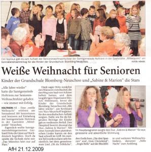 Anzeiger für Harlingerland 21.12.2009