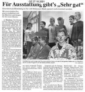 Ostfriesenzeitung 27.10.2001