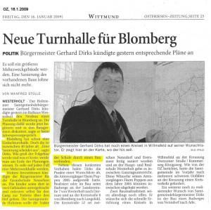 Ostfriesenzeitung 16.1.2009