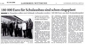 Ostfriesenzeitung 29.4.2009