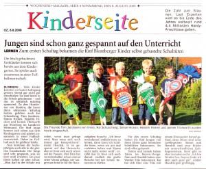 Ostfriesenzeitung 8.8.2009