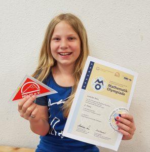 Leonie Voß erreichte einen 2. Preis bei der Mathematik Olympiade 2017
