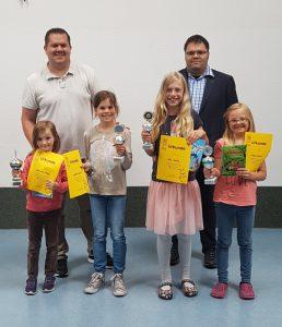 Die Siegerinnen des Samtgemeinde Lesewettbewerbs 2017